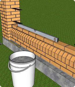 clôture en maçonnerie de briques