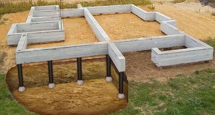 Ленточный фундамент часто используют при строительстве домов и коттеджей