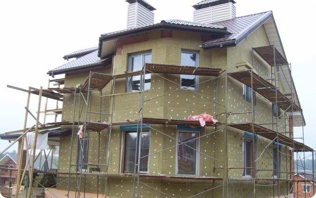 Isolation de la maison avec de la laine minérale