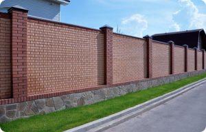 clôture en briques