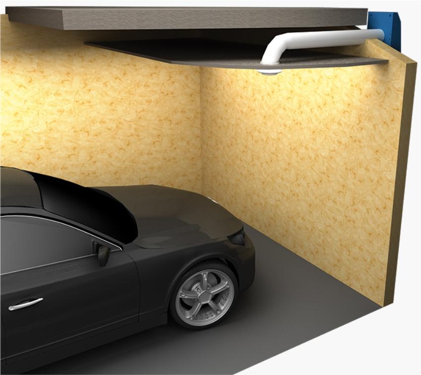 Le schéma du dispositif de ventilation dans le garage