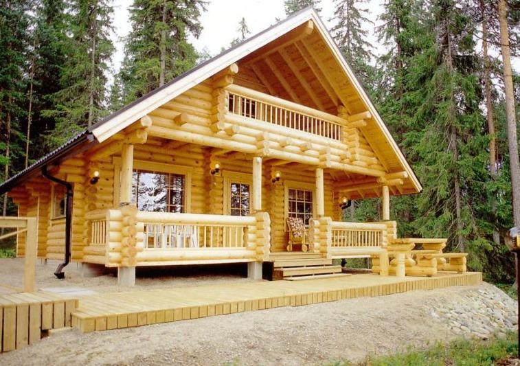 Cabane en rondins de bois.