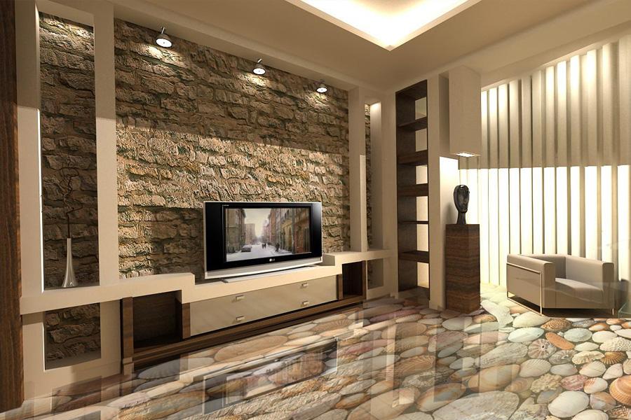 Sol décoratif 3D dans le salon