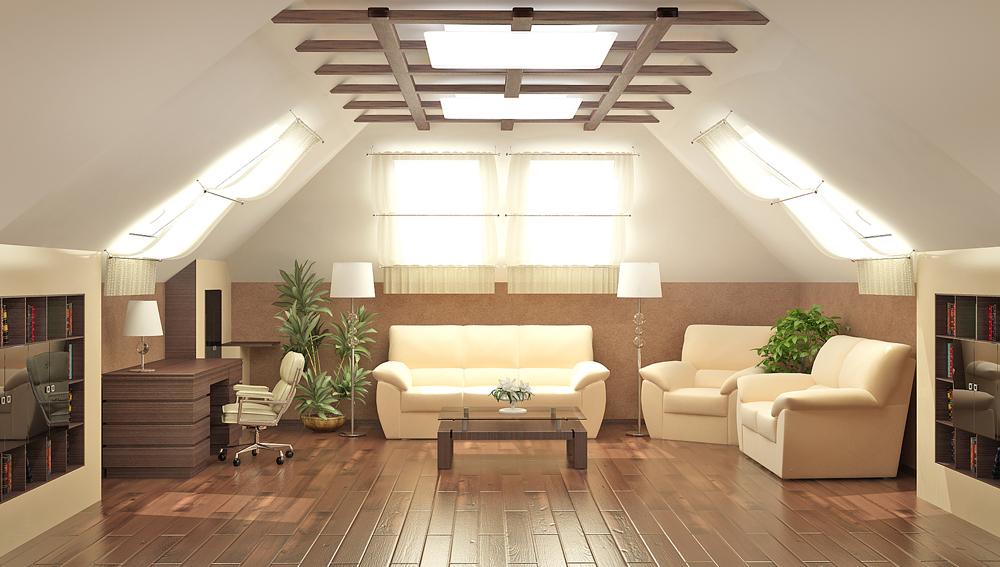 Un design élégant en bois sur le plafond diluera sa surface monotone