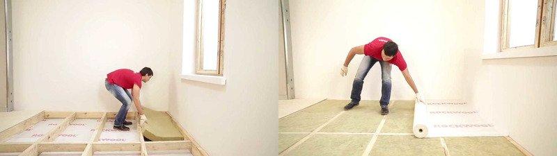 Isolation du plancher d'une maison à ossature bois