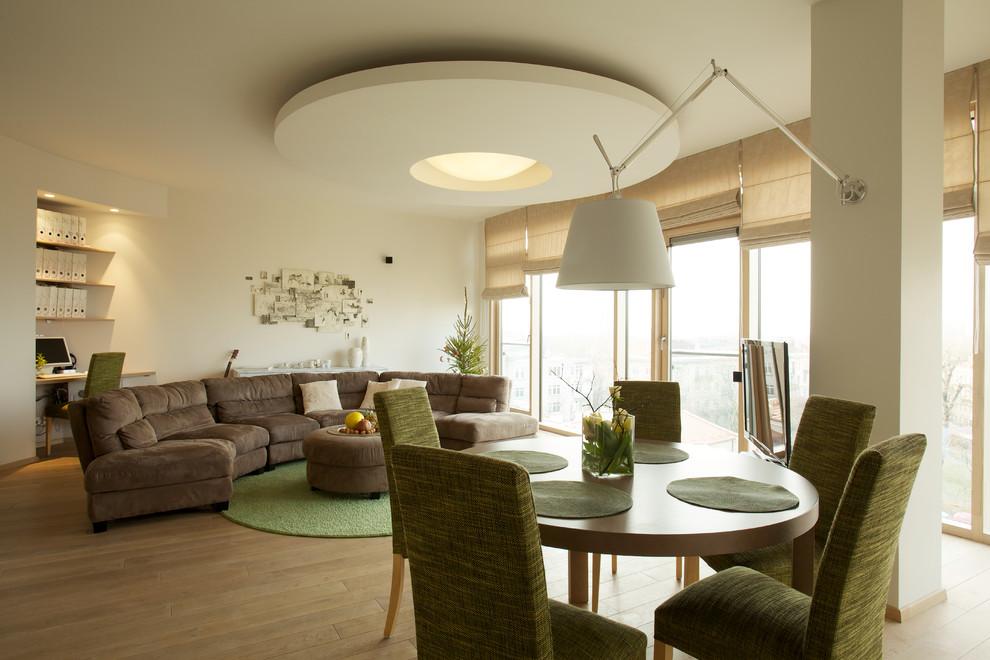 Роскошный интерьер гостиной в современном стиле