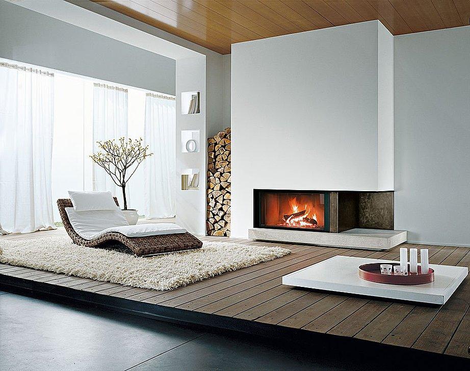 La cheminée s'intègre parfaitement dans presque tous les intérieurs