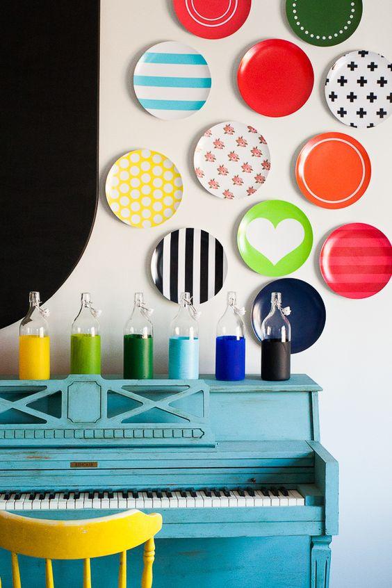 Une couleur vive sur le mur est un indicateur d'inspiration