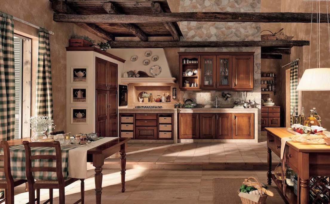 Le bois n'aime pas les couleurs vives, il faut donc tenir compte de ce point lors de la décoration de l'intérieur de la cuisine. Tout doit paraître strict et laconique