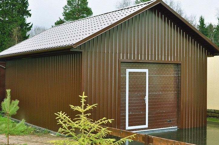 Un garage métallique