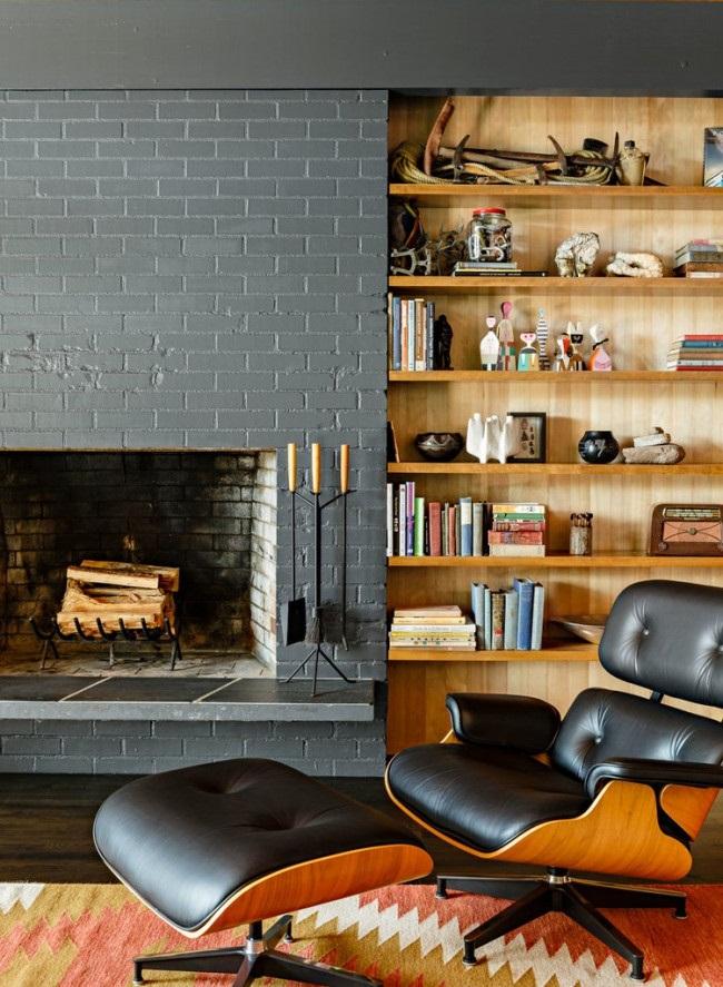 Une cheminée est un endroit idéal pour lire des livres