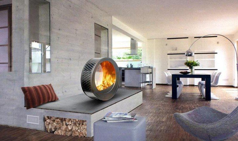 Elégante cheminée Art Nouveau