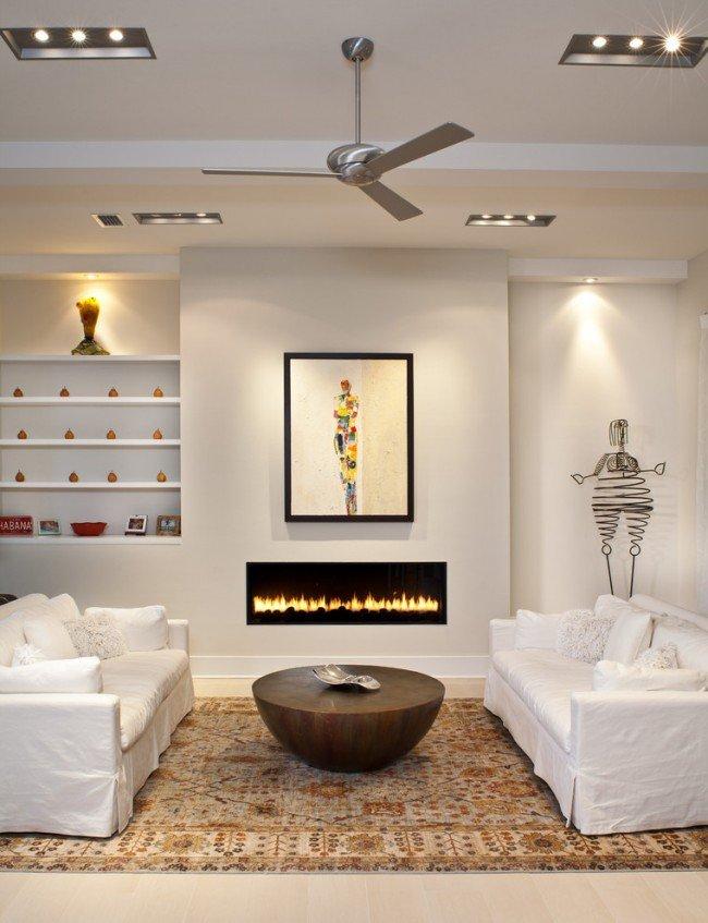 Les meubles disposés symétriquement favorisent le dialogue