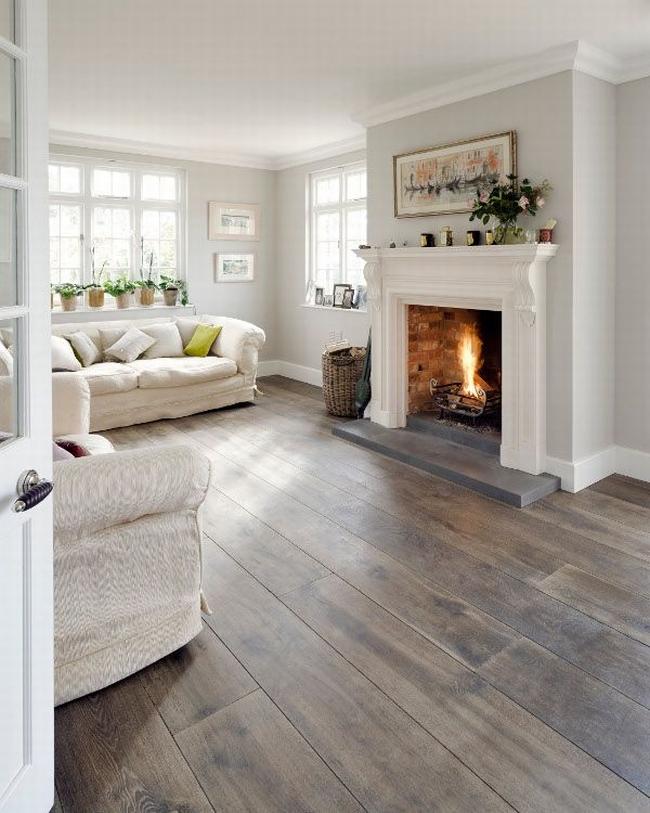 Une cheminée blanche est parfaite pour un intérieur classique
