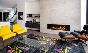 Salle de séjour avec cheminée