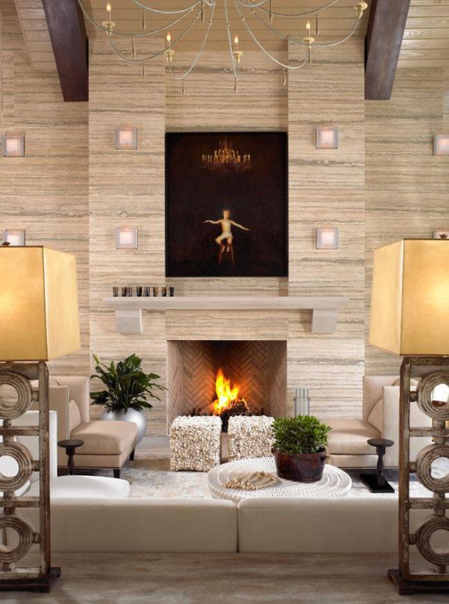 Cette magnifique peinture complète parfaitement un intérieur déjà très beau.