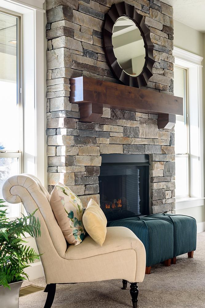 Les teintes parfaitement assorties créent une atmosphère chaleureuse.