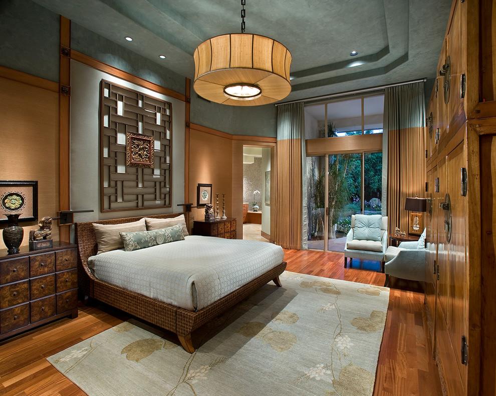 Необычное исполнение дизайна спальни в стиле фьюжн