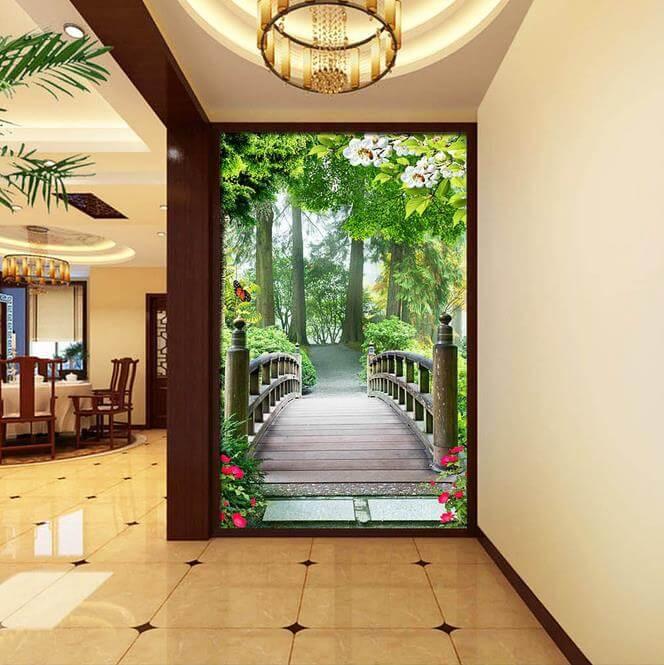 Solution originale de décoration de l'intérieur du couloir