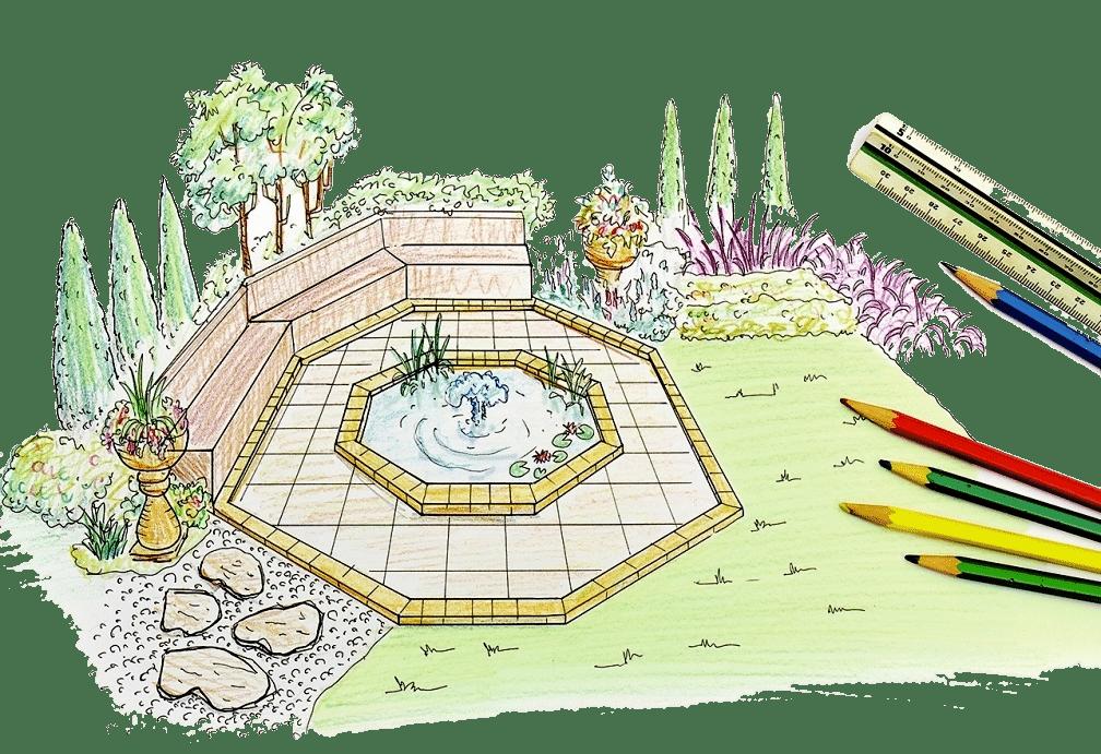 Projet de conception d'un aménagement paysager pour une résidence d'été