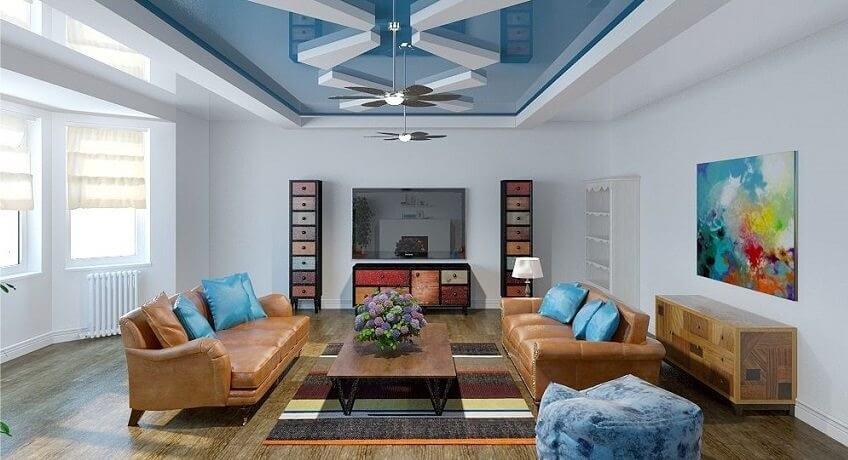 Une belle combinaison de couleurs dans un intérieur où chaque objet se complète.
