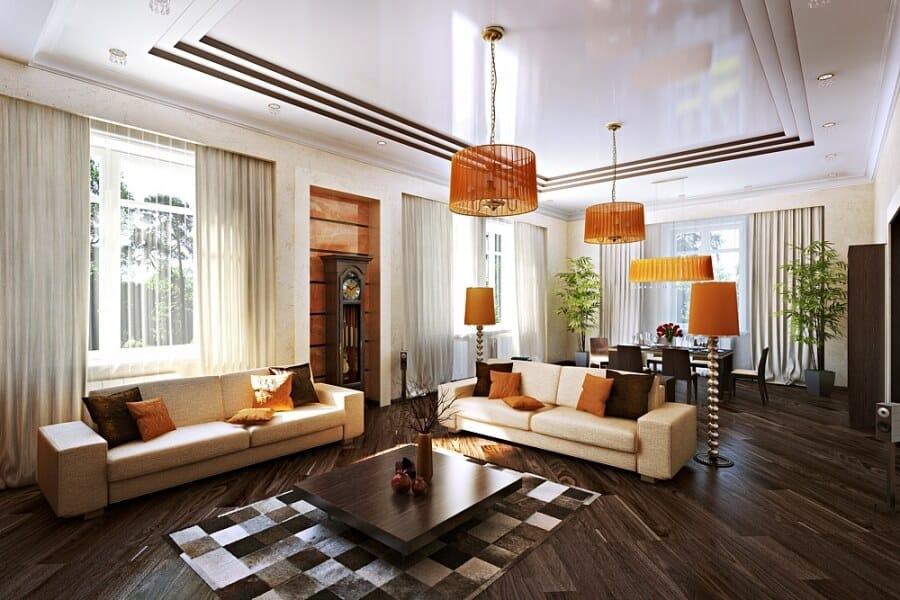 Rien de tel qu'un beau plafond pour décorer un intérieur.