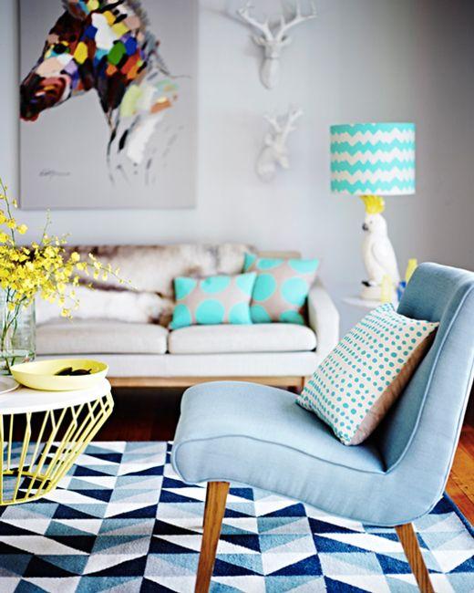Les textiles doivent être choisis avec soin et minutie pour s'harmoniser parfaitement avec la palette de couleurs globale.