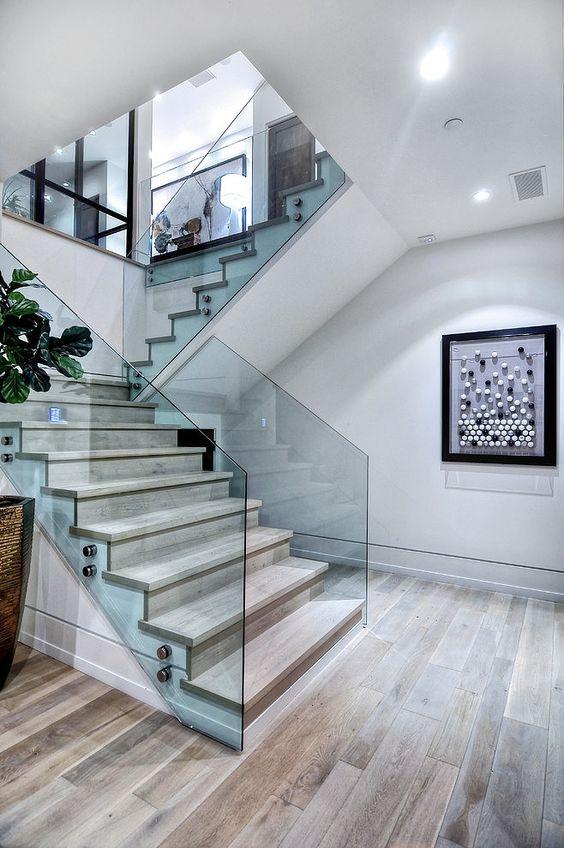 Exécution classique d'un escalier de marche à une seule travée