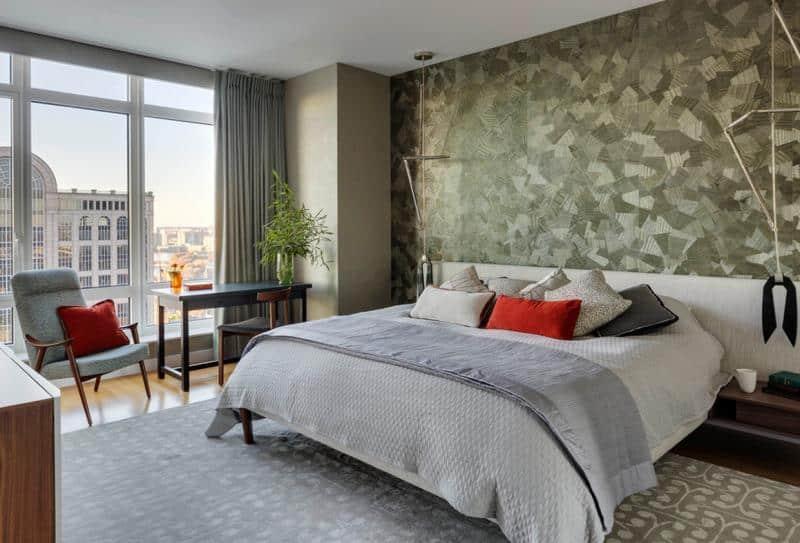 Le principal avantage de la décoration d'intérieur de chambre à coucher est que vous pouvez choisir presque n'importe quelle palette de couleurs.  Cependant, il est préférable d'utiliser toujours des teintes chaudes ou neutres.