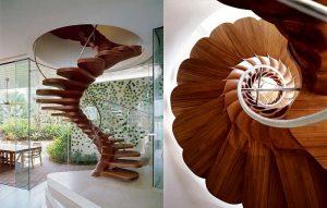 Escalier dans une maison privée