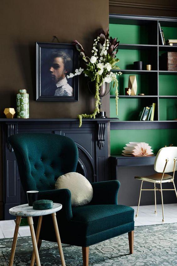 Il a été prouvé que le vert a un effet bénéfique sur la psyché humaine, car cette couleur favorise la relaxation.