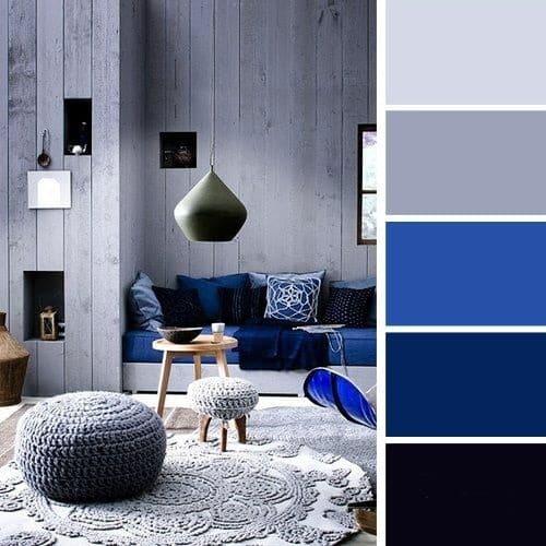 Le contraste du bleu et du gris a la propriété miraculeuse d'influencer positivement la perception du monde par une personne.