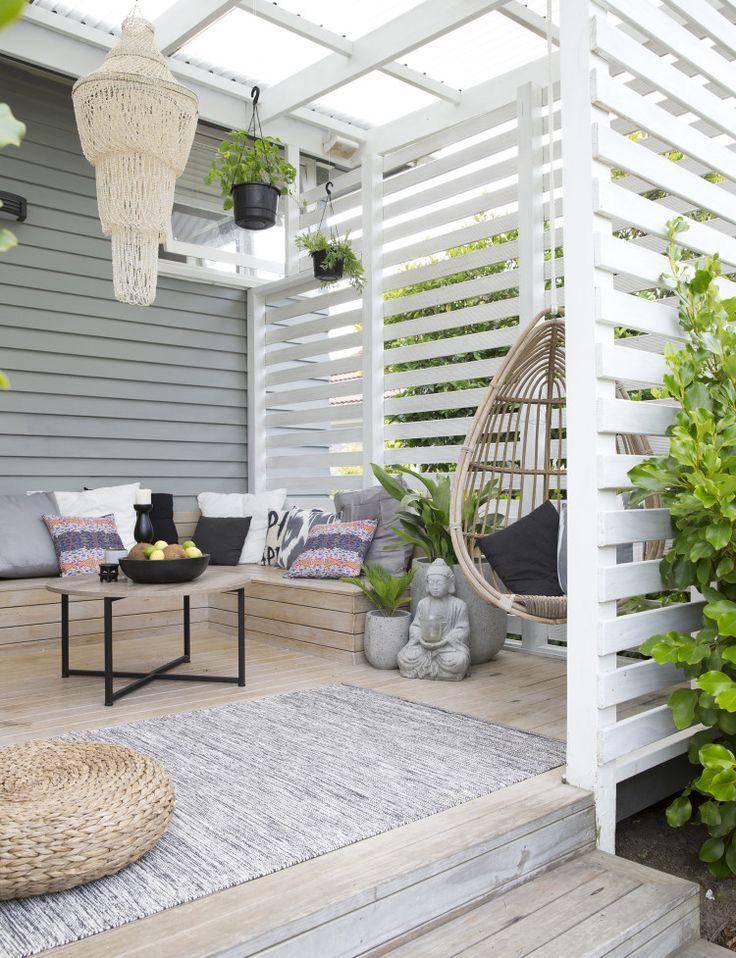 Magnifique combinaison de couleurs pour la terrasse d'été