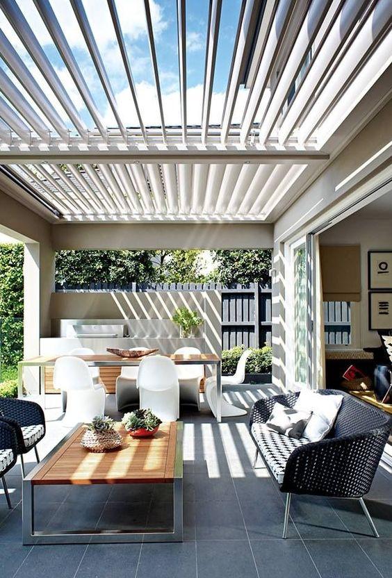 Auvent de terrasse original et moderne