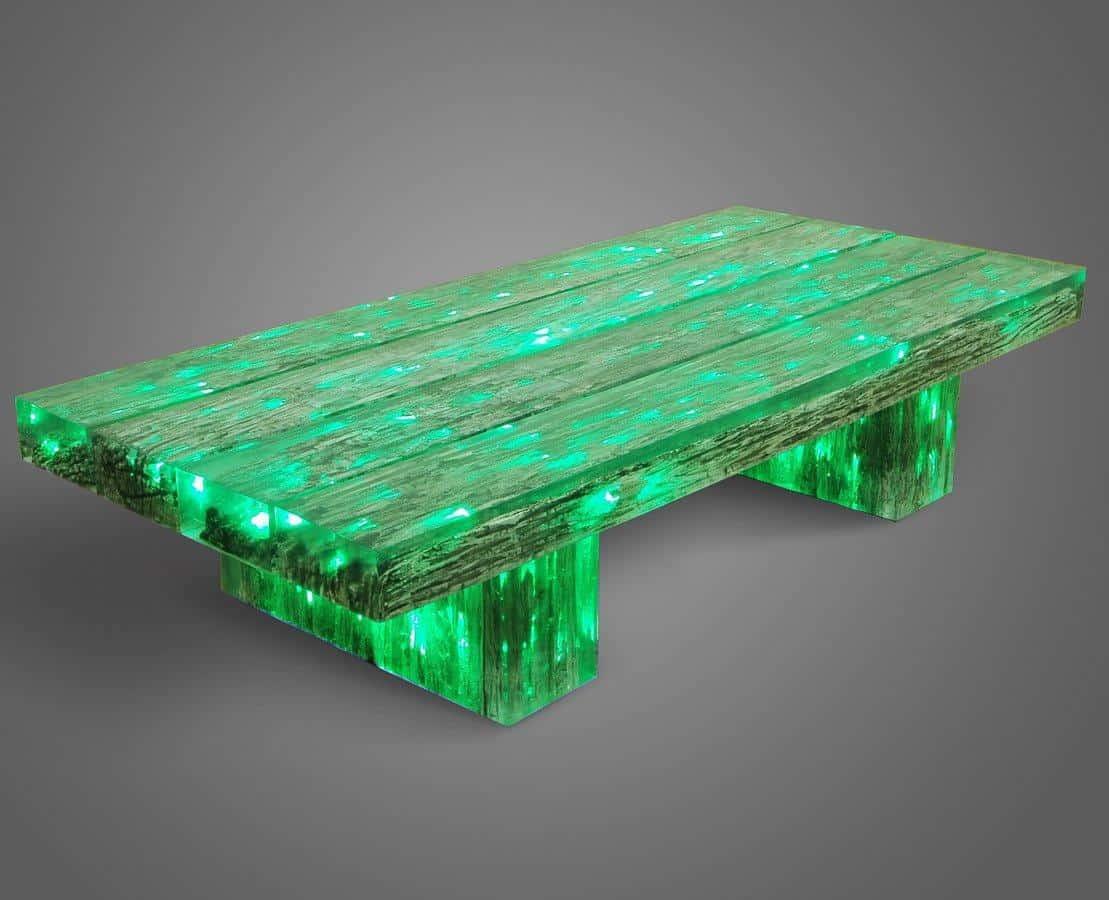 Светящийся в темноте стол оживит ночной сад, подарит невероятно сказочную и таинственную атмосферу