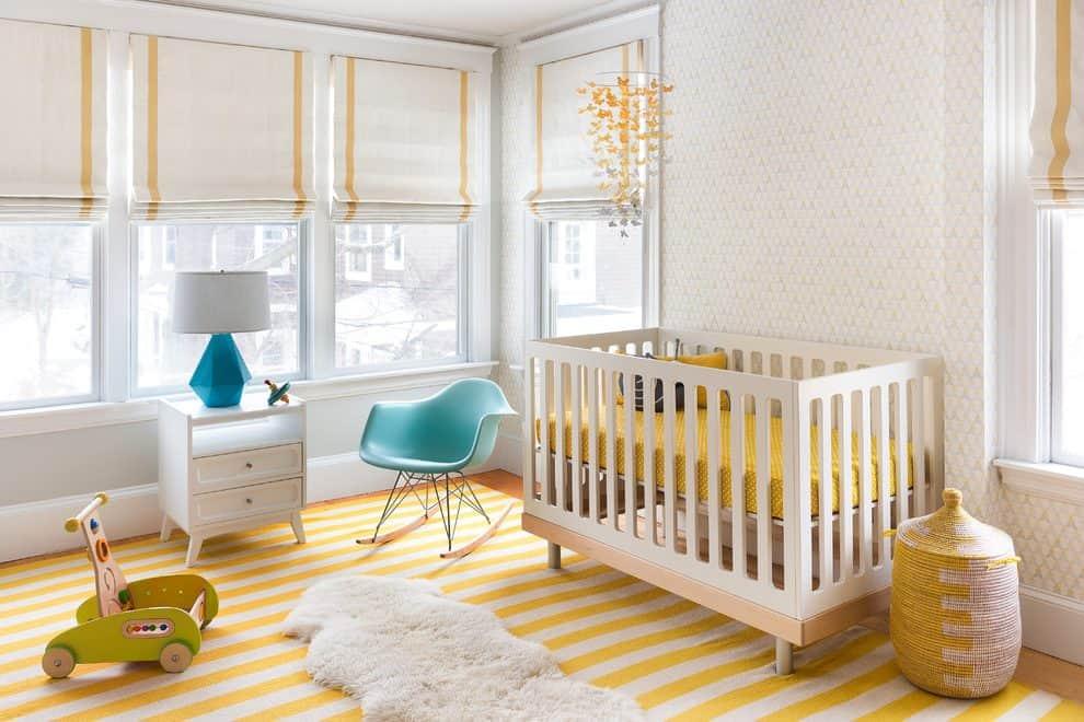 Les couleurs et les choix stylistiques sont présents dans chaque pièce de cet intérieur.