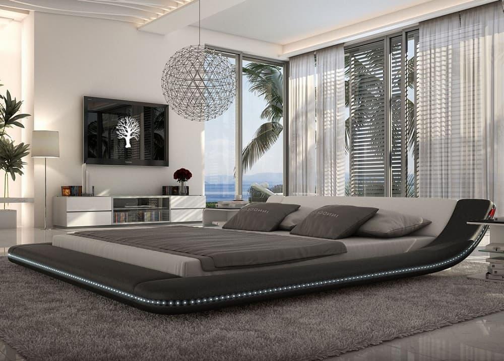 Un lit high-tech d'une beauté époustouflante.