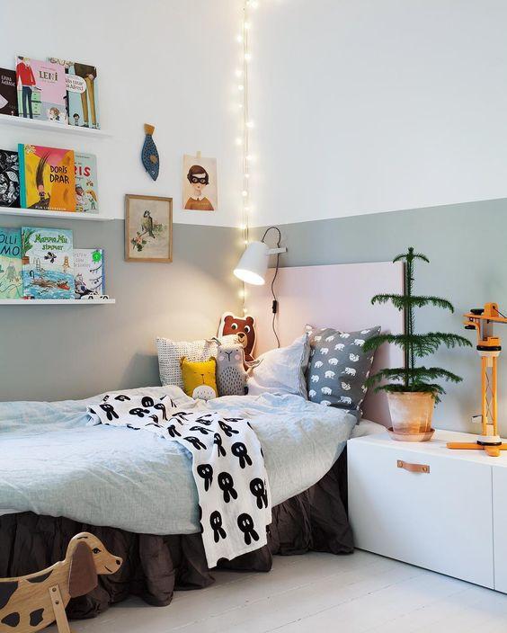 Une chambre belle et douillette pour le bébé.
