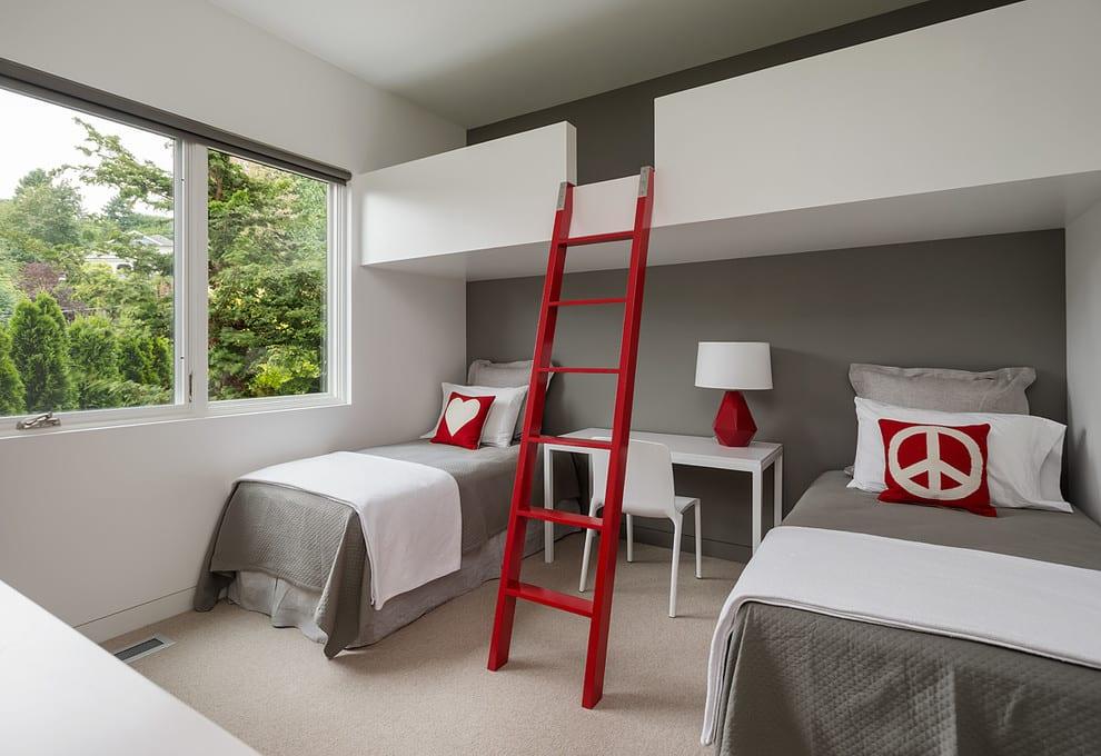 Une chambre mignonne et confortable pour les petits.