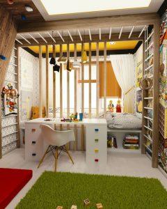 Une belle chambre d'enfant.