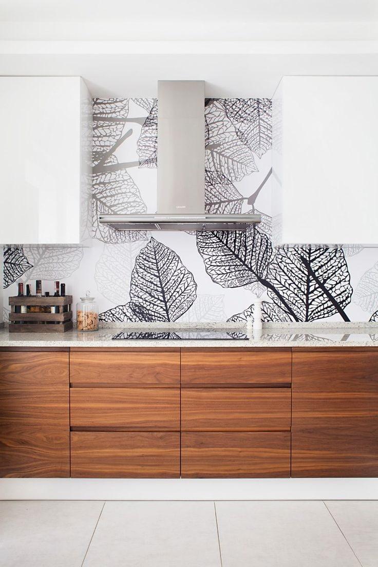 L'introduction de motifs intéressants à l'intérieur de la cuisine vous permettra d'apporter un sentiment de fête et de bonne humeur à la maison