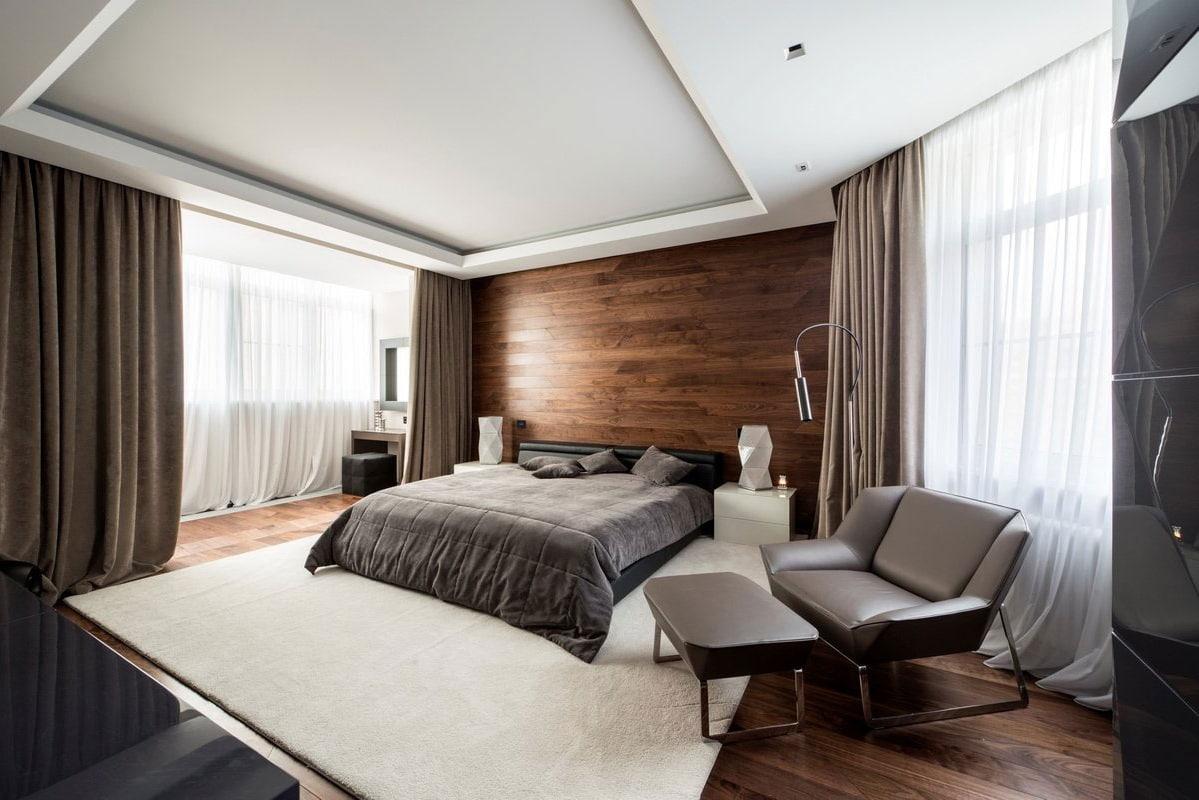 Intérieur raffiné et laconique de la chambre au style moderne