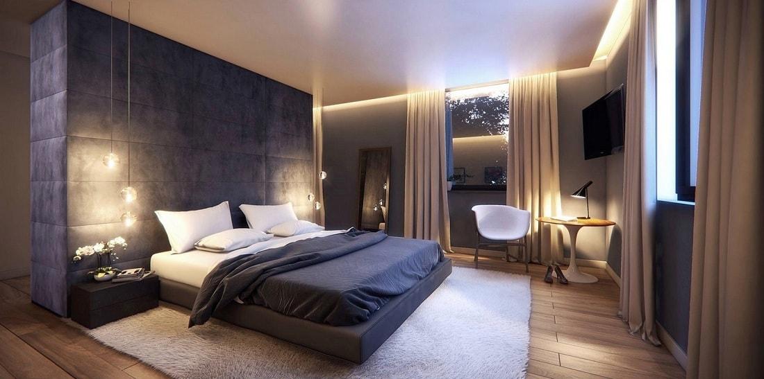 Un bon éclairage dans la chambre est propice à un bon et agréable séjour.