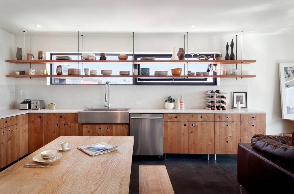 Подвесная конструкция поможет сэкономить свободное пространство на стене