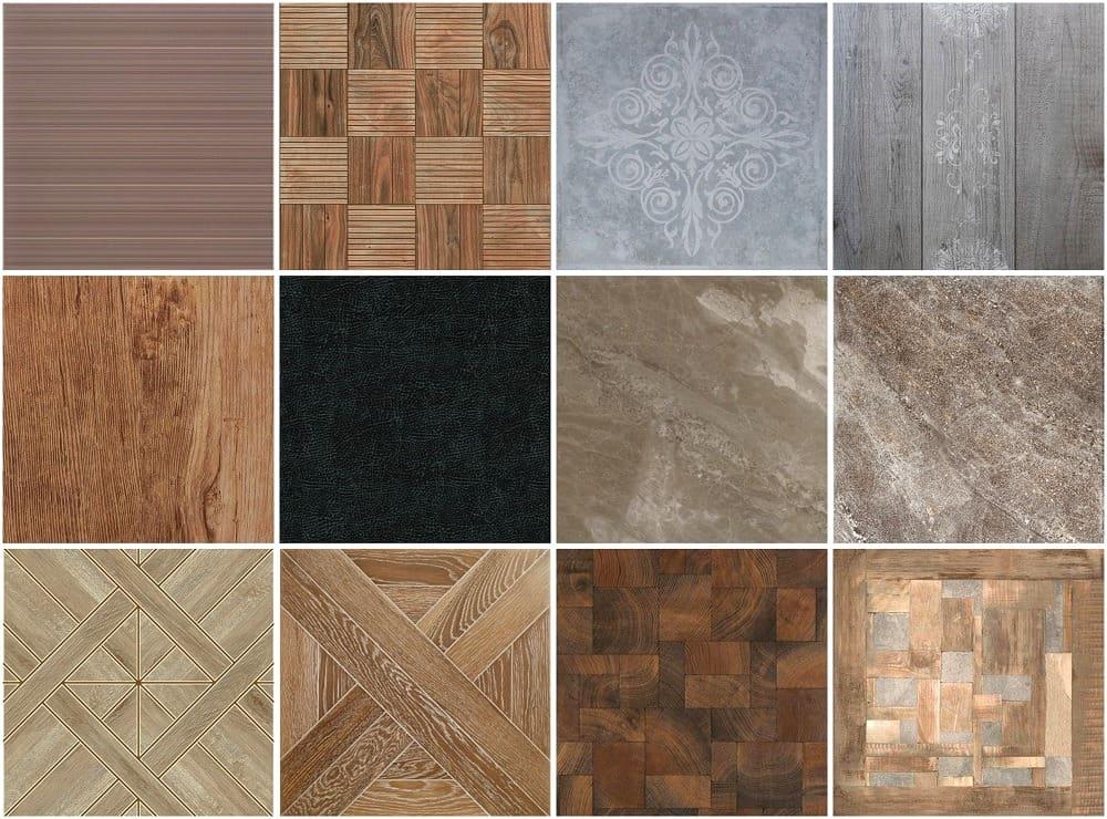Une variété de carreaux de sol modernes