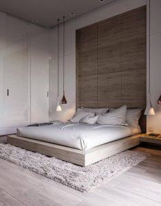 Chambre à coucher - style minimalisme
