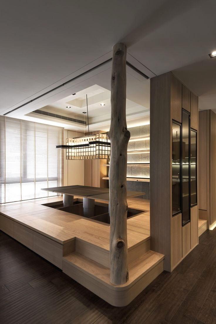 Un coin japonais peut être aménagé même dans un petit appartement