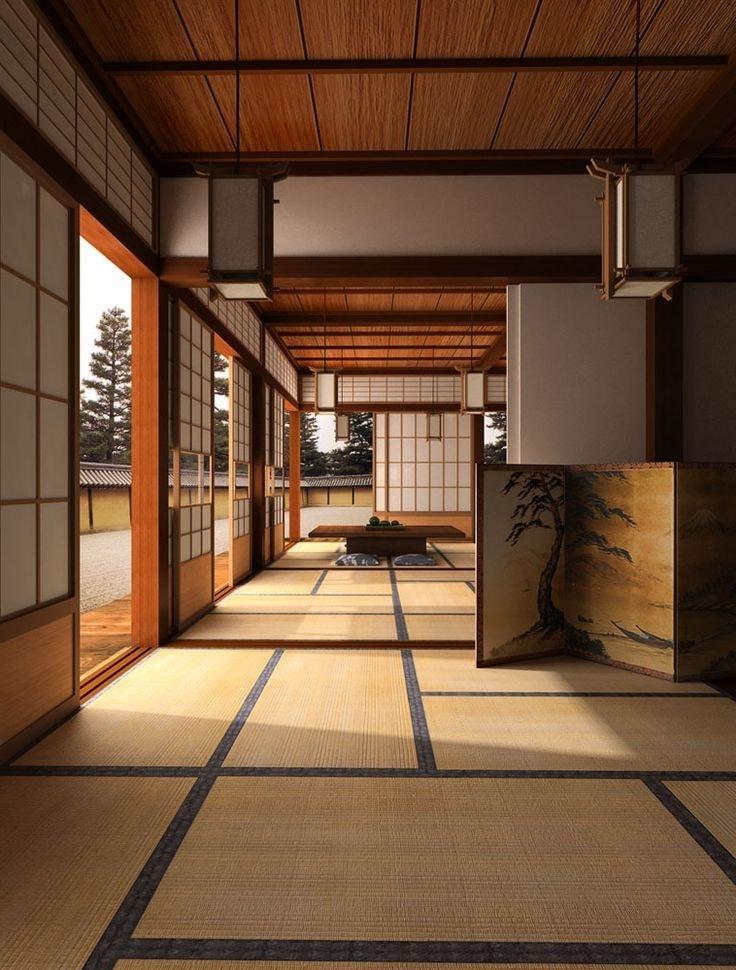Un intérieur japonais inimitable crée une ambiance familiale, chaleureuse et confortable.