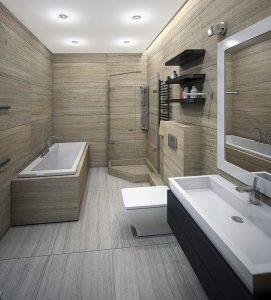 Carreaux de bain en céramique