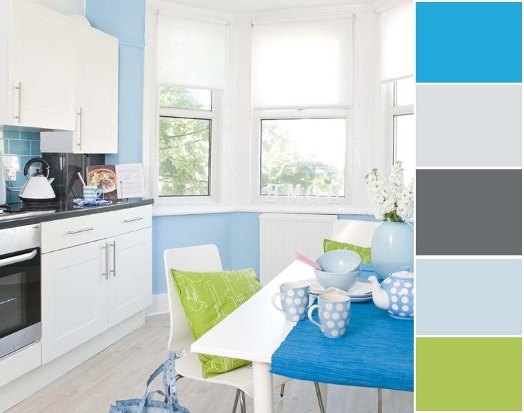 La combinaison parfaite du bleu avec les nuances les plus délicates de la palette de couleurs